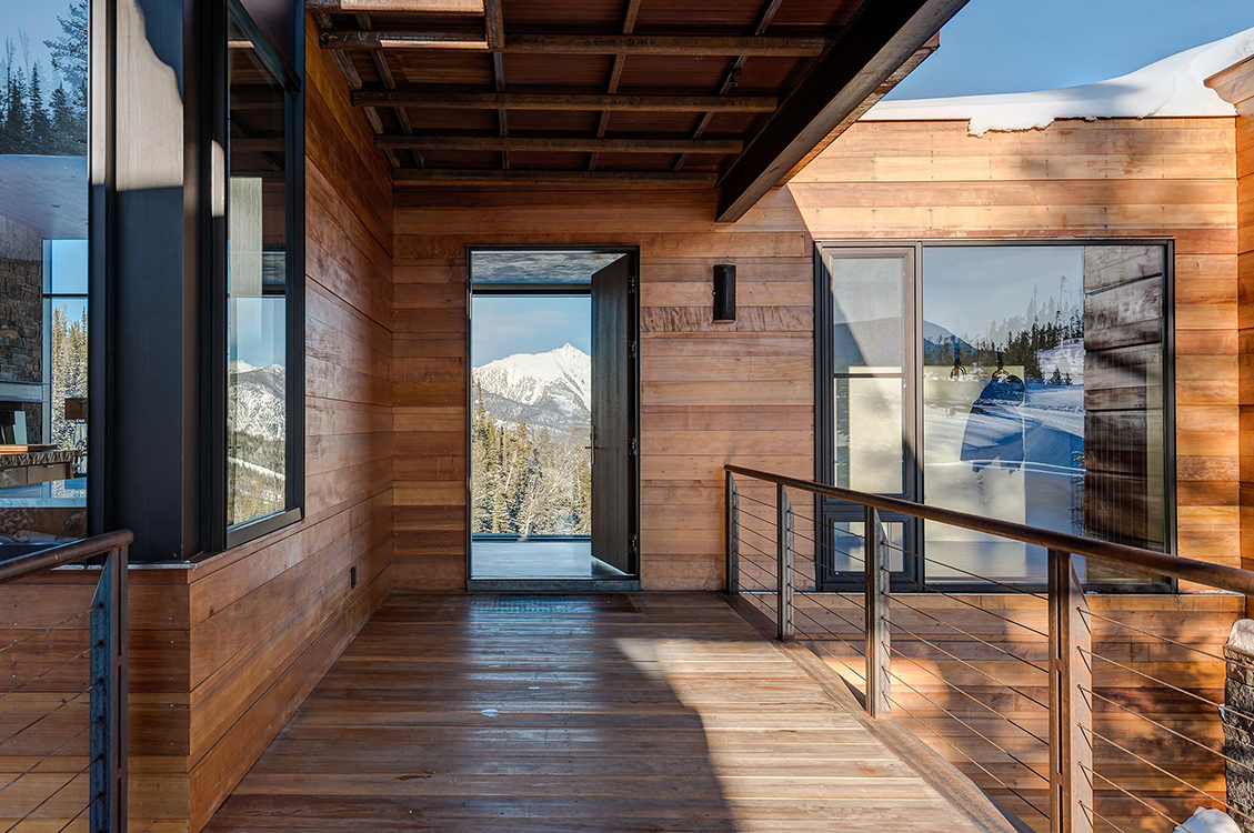 Pearson design group mountain modern for Architectural design mountain home